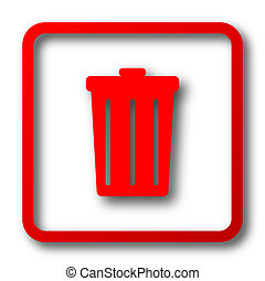 Bin icon. Internet button on white background.