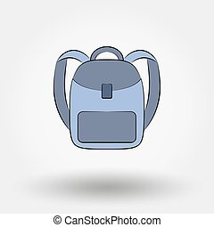 Schoolbag. Icon for web and mobile application. Vector...