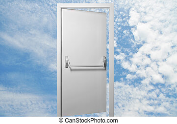 Heaven gate - Opened a door to the blue sky and white