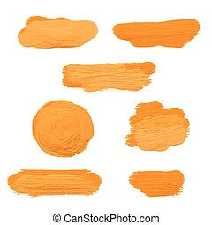 gold acrylic paint smears - Collection of gold acrylic paint...