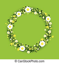 round floral daisy pattern