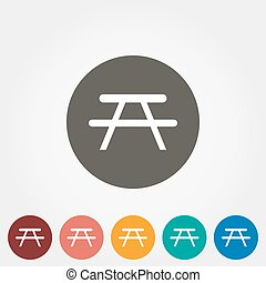 Camping table icon. - Camping table. Icon for web and mobile...