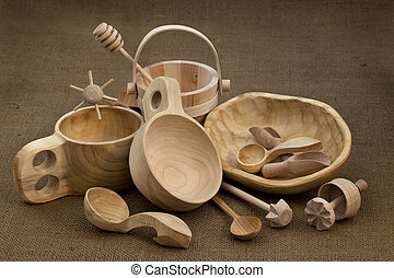 folk wood craft from Poland - Polish folk wood craft (cups,...