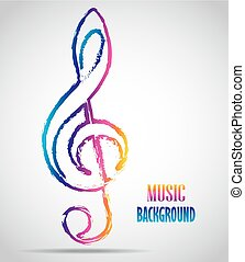 Pictograph of music key - Vector illustration of Pictograph...