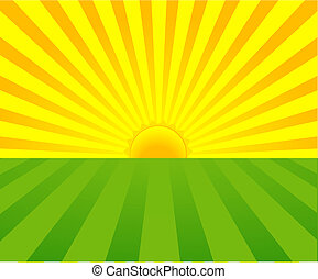 Summer sunrise - Summer Sunrise background with place for...