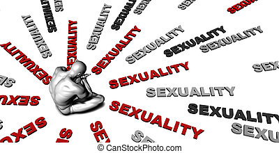 Sexuality - Suffering From Sexuality with a Victim Crying...