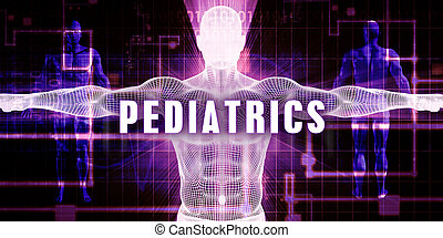 Pediatrics as a Digital Technology Medical Concept Art