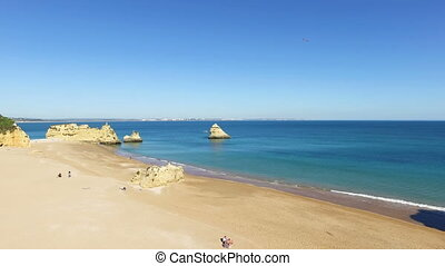 Natural rocks at Lagos Portugal - Natural rocks at Lagos in...