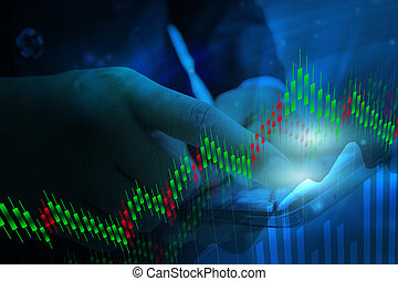 Business stock chart analysis Trading graph, Financial...