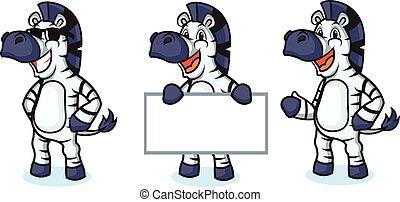 Zebra Mascot happy
