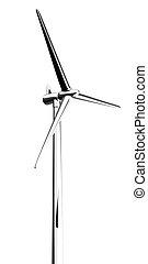 3d wind turbine mill white - 3d made - wind turbine mill...