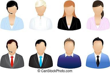empresa / negocio, gente, iconos