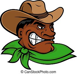 Cartoon black rodeo cowboy or rancher character - Brutal...