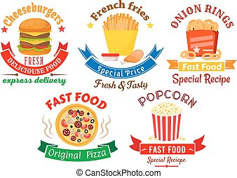 Takeaway meal symbols for fast food design
