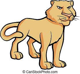 female lion illustration