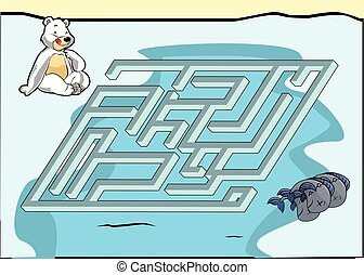 Maze game : Bear and fish