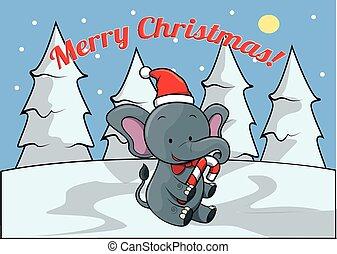 elephant Merry christmass banner - Merry christmass banner...