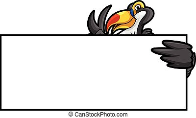 Toucan bird banner illustration