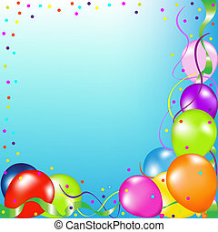 Party Card - Party Background With Balloons