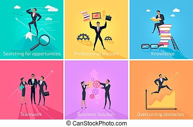 Business Banner Teamwork and Solution