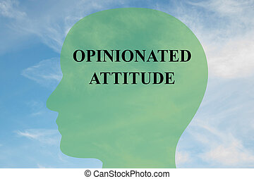Opinionated Attitude mind concept - Render illustration of...