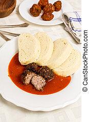Czech traditional tomato soup