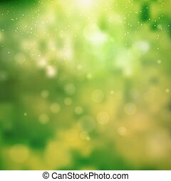 Green sunny good mood spring background. Abstract...