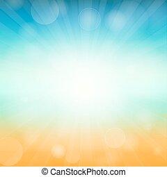 Summer time background - illustration Vector illustration of...