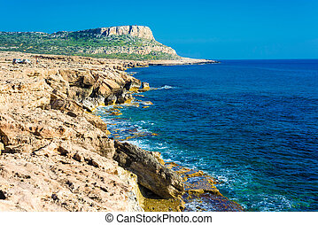 Cape Greco, also known as Cavo Greco, a headland in the...
