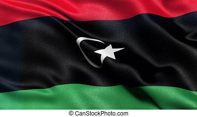 Flag of Libya seamles sloop - Seamless loop of flag of Libya...