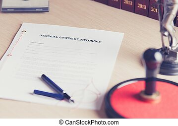 Prepared to be signed by a notary power of attorney -...
