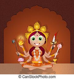 Kali Goddess - illustration of Kali Goddess