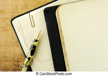 Vintage Notebook and Pen