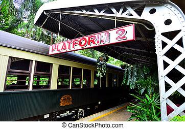 Kuranda Scenic Railway in Queenland Australia - Kuranda...