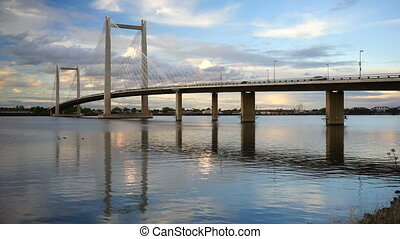Benton Franklin Intercounty Bridge Columbia River Kennewick...