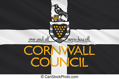 Flag of Cornwall county, England - Flag of Cornwall is a...