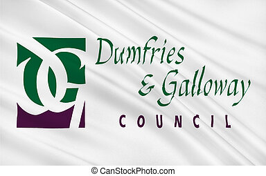 Flag of Dumfries and Galloway council of Scotland, United...