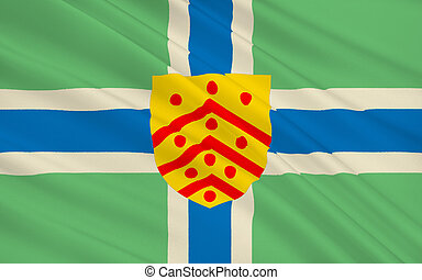 Flag of Gloucester city, England - Flag of Gloucester is a...