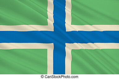 Flag of Gloucestershire county, England - Flag of...