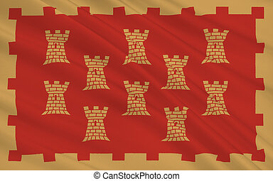 Flag of Greater Manchester is a metropolitan county, England...