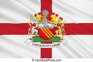 Flag of Manchester city, England - Flag of Manchester is a...
