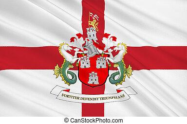 Flag of city Newcastle upon Tyne, England - Flag of...