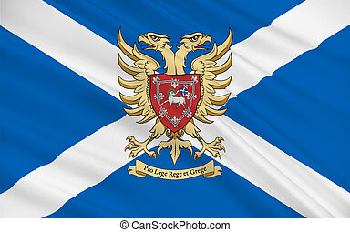 Flag of Perth is a city in central Scotland, United Kingdom of Great Britain