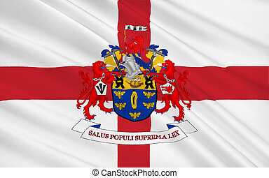 Flag of Salford city, England - Flag of City Salford is a...