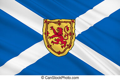 Flag of Scotland, United Kingdom of Great Britain and...