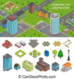 City Constructor Isometric Banners - City constructor...