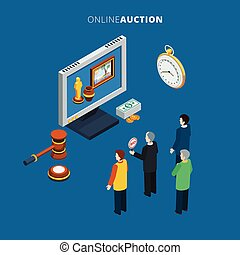 Online Auction Isometric - Online auction isometric with...