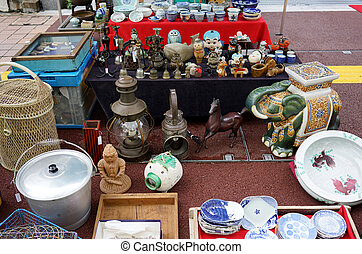 Japanese weekly flea market - Weekly Flea market on...