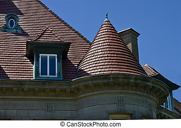 Historic Building Architectural Detail - Pittock Mansion...