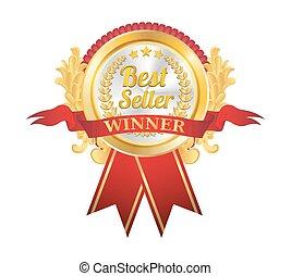 Best Seller Golden Badge